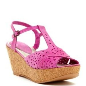Matisse pink wedge sandals Seude size 7